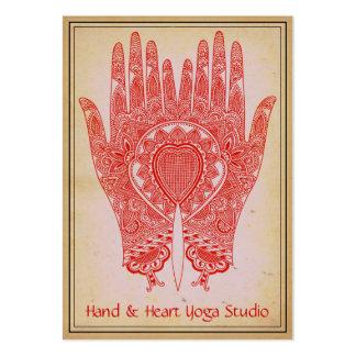 La alheña roja da la tarjeta de visita del estudio