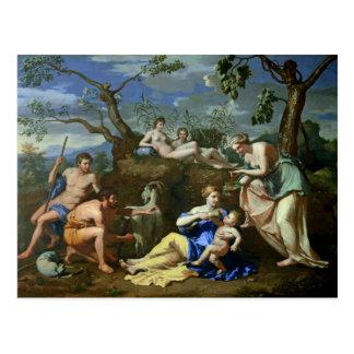 La alimentación del niño Júpiter, c.1640 Postal