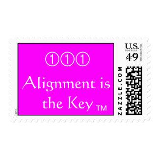 La alineación es la llave timbres postales