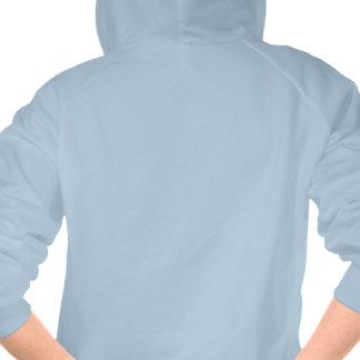 la almeja cuece el azul retro del logotipo de la sudaderas