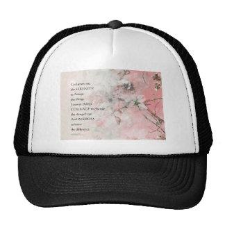La almendra del rezo de la serenidad florece rosa gorra