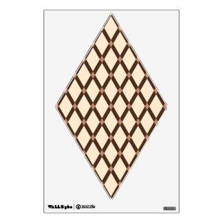 La almendra Diamante-Brown enmarca la etiqueta de