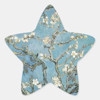 La almendra ramifica en la floración, 1890, pegatina en forma de estrella