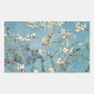 La almendra ramifica en la floración, 1890, pegatina rectangular