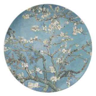 La almendra ramifica en la floración, 1890, platos para fiestas