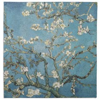 La almendra ramifica en la floración, 1890, servilleta