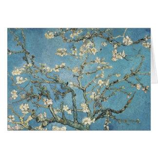 La almendra ramifica en la floración, 1890, tarjeta de felicitación