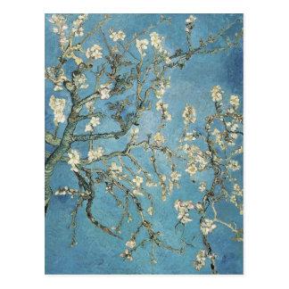 La almendra ramifica en la floración, 1890, tarjetas postales