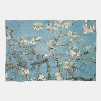 La almendra ramifica en la floración, 1890, toalla de mano