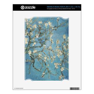 La almendra ramifica en la floración 1890 Vincen Calcomanías Para El NOOK