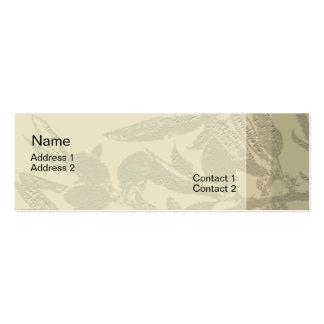 La almendra ramifica tarjeta del perfil plantillas de tarjetas personales