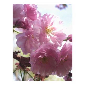 La almendra rosada ramifica destino del árbol de l membrete personalizado