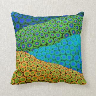 La almohada coralina suave del arte de Zoanthid