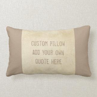 la almohada de encargo añade su propia cita