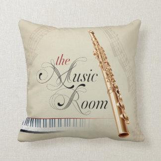 La almohada de la flauta del sitio de la música