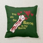 La almohada de la tarjeta del día de San Valentín