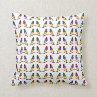 La almohada de los amantes del pinzón de Gouldian