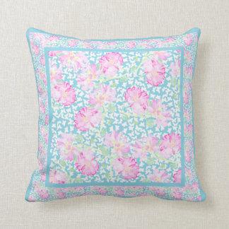 La almohada de tiro, amortigua mariposas rosadas