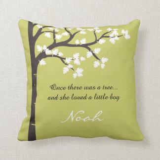La almohada de tiro de donante del árbol