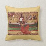 La almohada de tiro egipcia del arte de la pared d