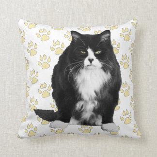 La almohada de tiro gruñona divertida del gato/la