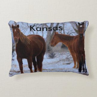 La almohada del caballo de Kansas y del poste de Cojín Decorativo