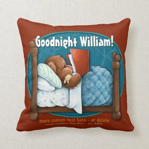 La almohada del niño personalizado. Lectura del os
