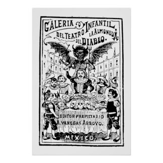 La Almoned del Diablo by José Guadalupe Posada Poster