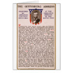 La alocución de Gettysburg de Abraham Lincoln 1863 Tarjetón