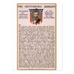 La alocución de Gettysburg de Abraham Lincoln 1863 Postal