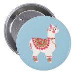 La alpaca pin redondo 7 cm