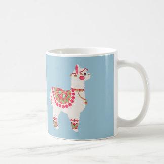 La alpaca taza básica blanca