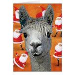 La alpaca YouBeaut de encargo diseña navidad Tarjeta De Felicitación