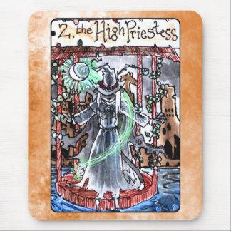 La alta carta de tarot de la sacerdotisa alfombrilla de ratón