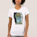 La alta carta de tarot de la sacerdotisa t-shirt