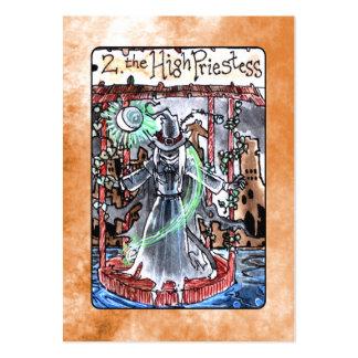 La alta carta de tarot de la sacerdotisa plantillas de tarjetas personales