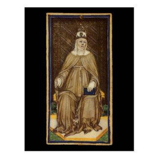 La alta carta de tarot de la sacerdotisa postal
