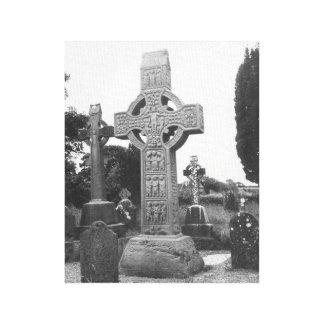 La alta cruz de Muiredach, Monasterboice Irlanda Impresiones En Lona
