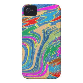 La alta marea en el mar hace las ondas hermosas el iPhone 4 Case-Mate coberturas