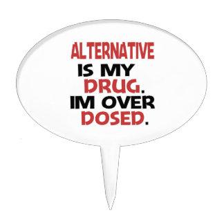 La alternativa es mi droga que estoy sobre decoraciones de tartas