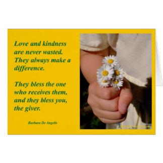 """La """"amabilidad bendice"""" tarjetas de felicitación"""
