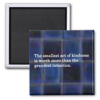 La amabilidad de otras imán cuadrado