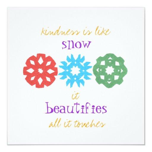 """La """"amabilidad es como tarjeta de la foto del día comunicado"""