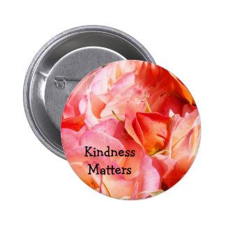 La amabilidad importa color de rosa rosado de enca pin