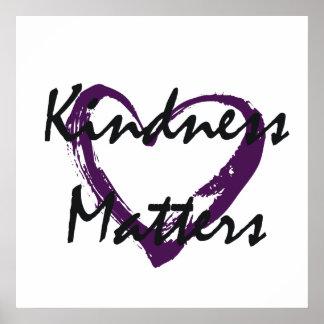 La amabilidad importa corazón poster