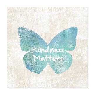 La amabilidad importa mariposa impresiones en lienzo estiradas
