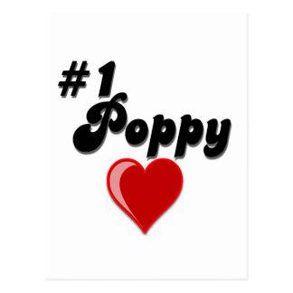 La amapola #1 - celebre el día del abuelo postal