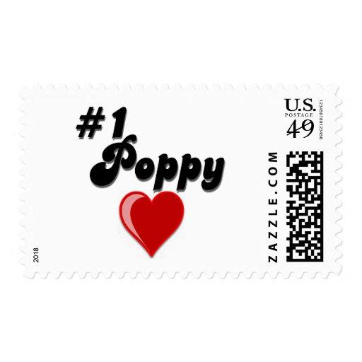 La amapola #1 - celebre el día del abuelo sello
