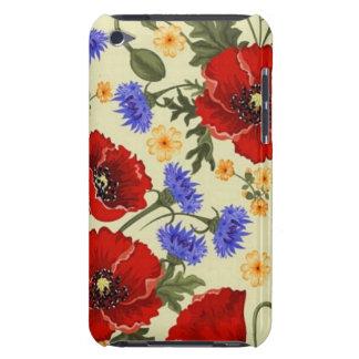 La amapola de la primavera florece amarillo azulve iPod Case-Mate cobertura