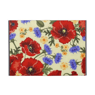 La amapola de la primavera florece amarillo azulve iPad mini cárcasas